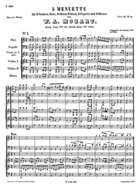 5 Menuette, K. 461, C Major