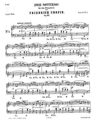 Nocturne op.37 no.1, B.119, Op. 37/1, G Minor
