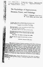 Stanford Prison Experiment Articles 1972-2000, Part 2