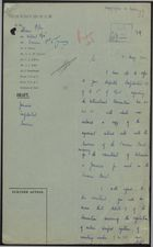Draft of Letter from Malcolm MacDonald to Sir Arthur Richards, May 11, 1940