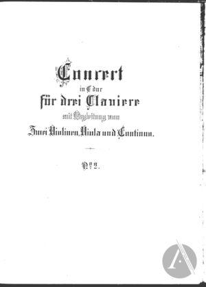 Concerto for Three Harpsichords