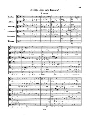 Ecce ego Joannes, Op. 93