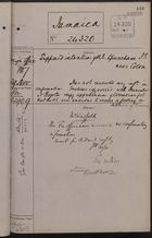 Correspondence Cover Sheet re: Supposed Intention of U.S. to Purchase Island Near Colon, November 29, 1887