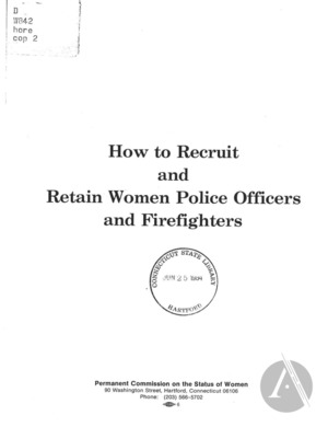 How to Recruit and Retain Women Police Officers and Firefighters