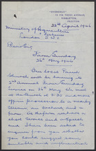 Letter from A. Bradley to the Ministry of Agriculture and Fisheries re: Farm Sunday,  26th May 1946; written April 22, 1946