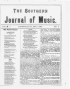 The Southern Journal of Music,  Vol. 1, no. 3, December 7, 1867