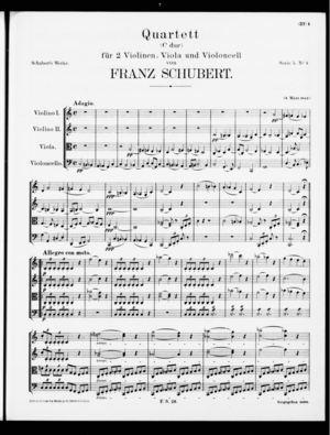 Quartett, D. 46, C Major