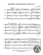 Air, from Water Music Suite no. 1, HWV 348, F Major