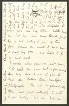 Letter from Emily M. Bakewell to Edith Thompson, December 3, 1885