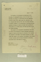 Letter from Secretary of War to Secretary of State, Aug. 14, 1919
