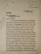 Memo from Chester Harding to Hon. A. Percy Bennett re: Possible Deportation of Peter McDonald Milliard from the Panama Canal Zone, August 04, 1919