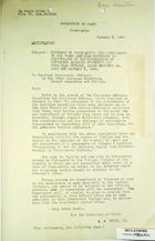 Confidential Paperwork on Recommendations of Emergency Advisory Committee for Political Defense, 1943-44 (in English & Spanish)