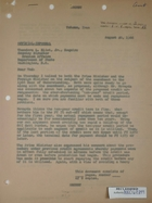 Letter from Armin H. Meyer to Theodore L. Eliot (U.S. Department of State), re: Military sales to Iran, August 20, 1966