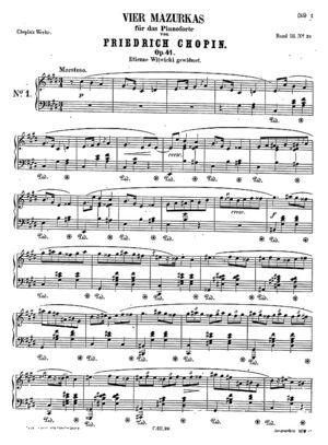 Mazurka no. 26, B.126, Op. 41/1, C Sharp Minor