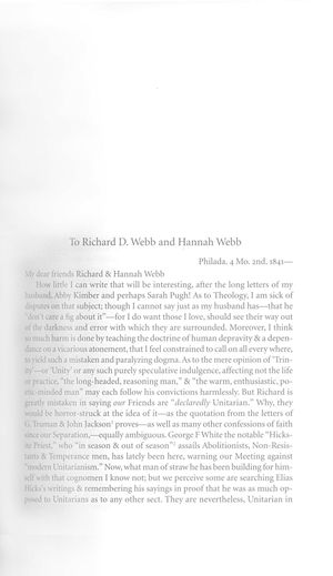 Letter from Lucretia Coffin Mott to Richard D. Webb and Hannah Webb, April 2, 1841