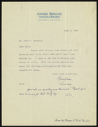 Letter from Franz Boas to Dr. Ruth F. Benedict, June 6, 1932