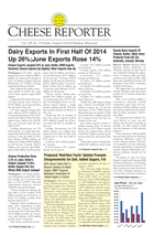 Cheese Reporter, Vol. 139, No. 7, Friday, August 8, 2014