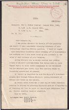 Decypher from Sir J. Jordan re: Tibetan Question, January 20, 1920