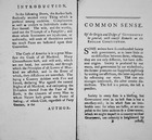 Introduction and first page of 'Common Sense' by Thomas Paine, 1776 (litho)