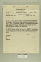 Memo, and Copies, from L. K. Truscott to C.G, 15th Army Group, May 13, 1945
