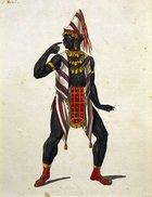 Austria, Vienna, Wolfgang Amadeus Mozart (1756-1791), Die Zauberflote (The Magic Flute), 1791. Costume design for Monostato