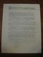 Research Report, Erawan Hotel, July 2, 1966