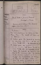 Colonial Office Correspondence Register, re: Letter from Foreign Office on French Duties for Jamaican Products Transshipped in Canada, with Related Minutes, March 7, 1905