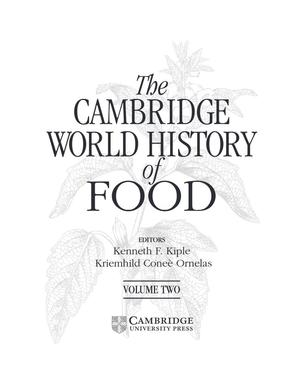 The Cambridge World History of Food (Volume Two)