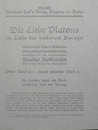 Magnus Hirschfeld Scrapbook: Die Liebe Platons im Lichte der Modernen Biologie