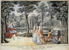 Austria, Vienna, Set design for Act II of performance The Magic Flute by Wolfgang Amadeus Mozart
