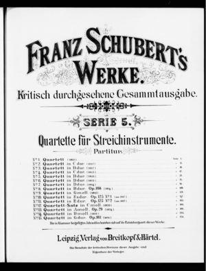 Quartett, D. 18, G Minor