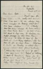 Letter from Emily M. Bakewell, to Cousin Edith, March 23, 1882