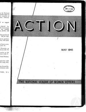 Action, vol. 1 no. 4, May 1945