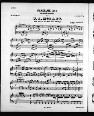 Phantasie No. 3 für das Pianoforte