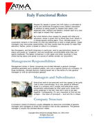 Italy Functional Roles