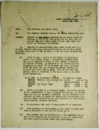 Letter from Chester Harding to Adjutant General, War Department, re: West Indian Employees, October 23, 1919