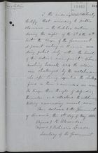 Translation of Testimony re: Deadly Gun Battle at Culebra, May 5, 1885