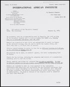 Letter from Secretary, IAI, to all members of the Executive Council, 14 Jan. 1972