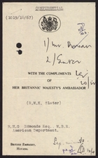 Confidential from R. M. K. Slater to R. H. G. Edmonds, April 5, 1967