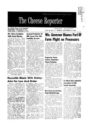 The Cheese Reporter, Vol. 88, No. 4, Friday, September 18, 1964