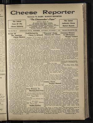 Cheese Reporter, Vol. 55, no. 8, November 1, 1930