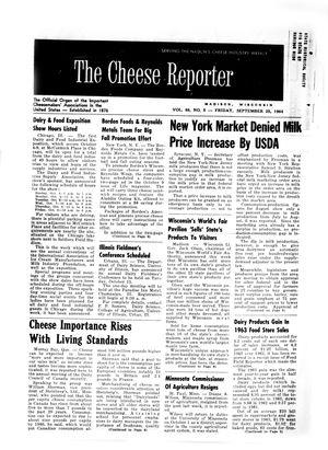 Cheese Reporter, Vol. 88, No. 5, Friday, September 25, 1964