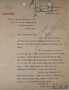 Memo from A. Percy Bennett to Chester Harding re: Warning of Possible Deportation of Peter McDonald Milliard from the Panama Canal Zone, August 05, 1919