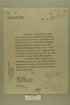 Letter from Secretary of War to Secretary of State, June 14, 1919