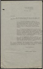 Letter from Acting Labour Advisor, Labour Department of Kingston, re: Newspaper Notifications for Assistance of Persons Going to England in Search of Work, May 7, 1948