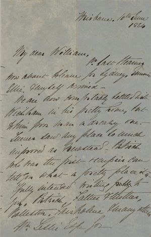 Letter from George Leslie to William Leslie, June 10, 1854