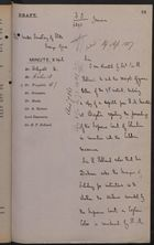 Draft Minute from Colonial Office to Under Secretary of State, Foreign Office, re: Culebra Massacre, April 19, 1887