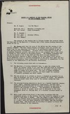 Colonial Office Minutes re: November 20 Meeting in Colonial Office, November 25, 1958