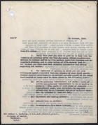 Letter from A. Alderman to Sir Arthur S. MacNalty, Oct. 7, 1939