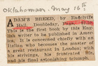 Adam's Breed by Radclyffe Hall: First Published Book in America About An Italian Master of a Great Restaurant in London (Oklahoman, May 16)